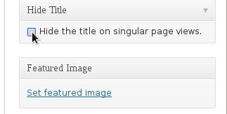 Remove Title WordPress Page